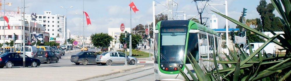 Métro léger, reliant El Mourouj à Tunis